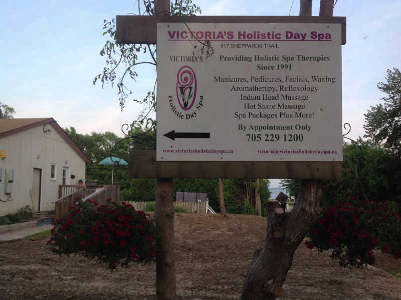 Spa Location Sign